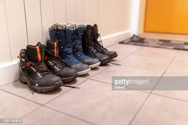 family shoes - snow boot stock pictures, royalty-free photos & images