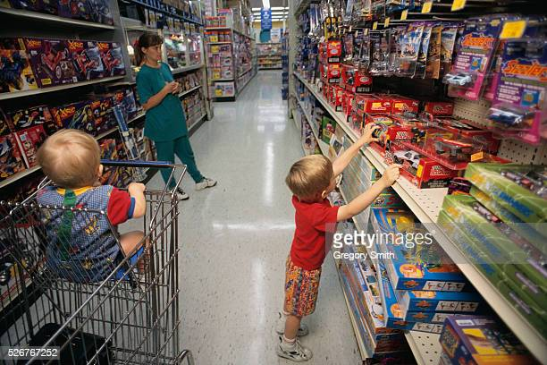 Family Shopping at Toys 'R' Us