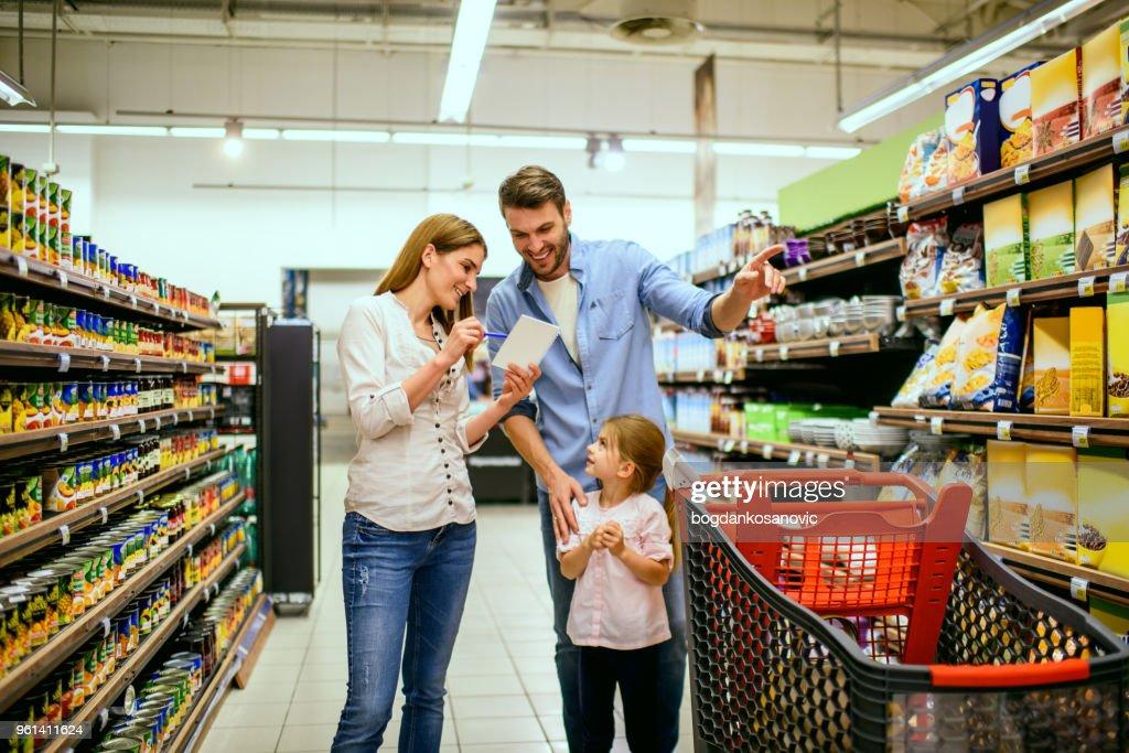 Family shopping : Stock Photo