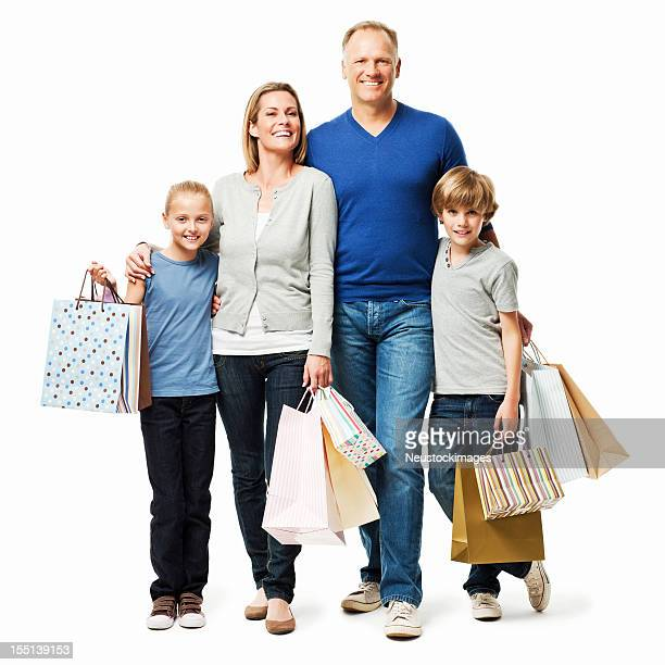 Family Shopping Together - Isolated