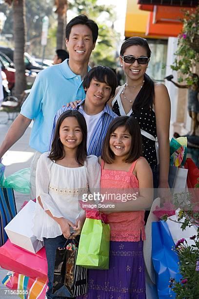 Family shopping trip