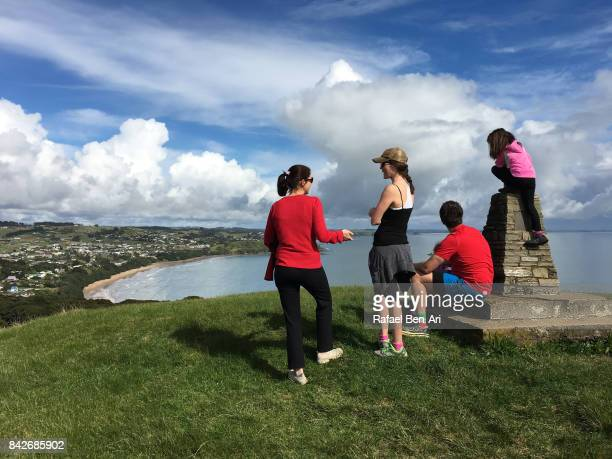 Family siblings travels together outdoors
