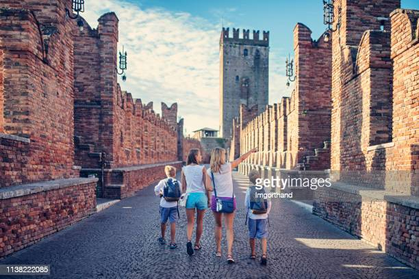 family sightseeing verona, italy - veneto stock pictures, royalty-free photos & images