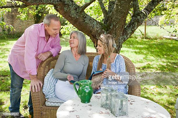 Family sitting at table