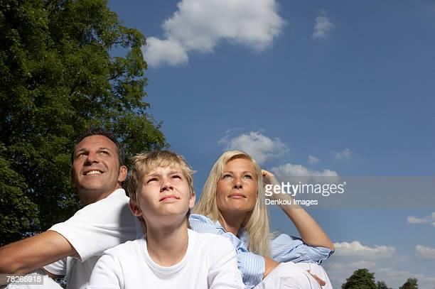family sitting in the park. - in the park day 3 imagens e fotografias de stock