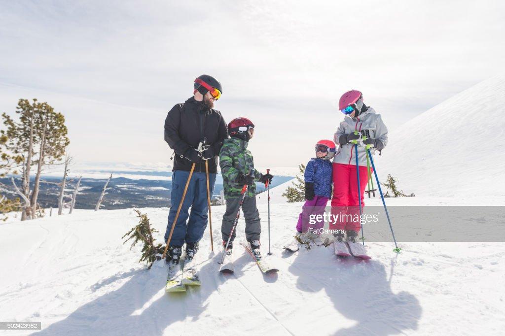 Family Skiing Holiday! : Stock Photo