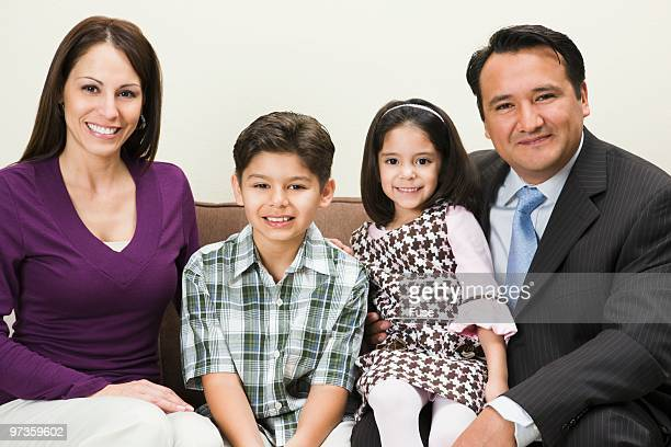 family smiling - little girls dressed up wearing pantyhose stock photos and pictures
