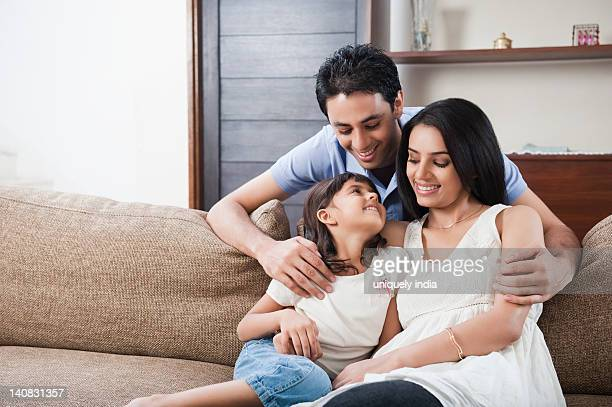 family smiling together - south asia stock pictures, royalty-free photos & images