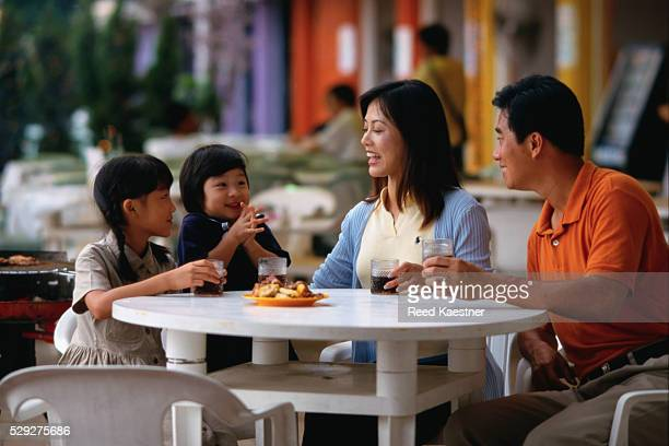 Family Snacking in Food Court