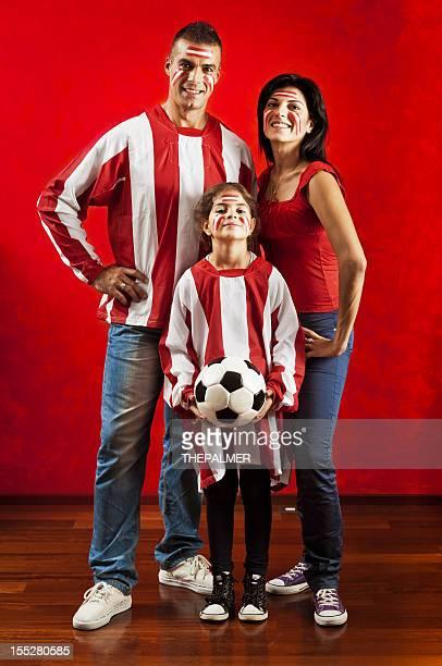 family soccer fans