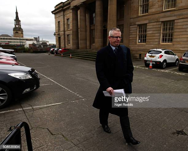 Family spokesman Robin Palmer arrives to speak to the media outside Newcastle Crown Court after the family of PC David Rathband lost the civil court...
