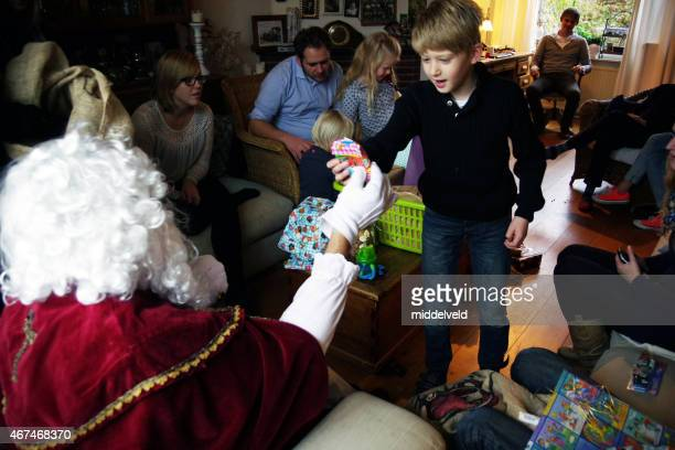 family st nicholas party - st. nicholas stock photos and pictures