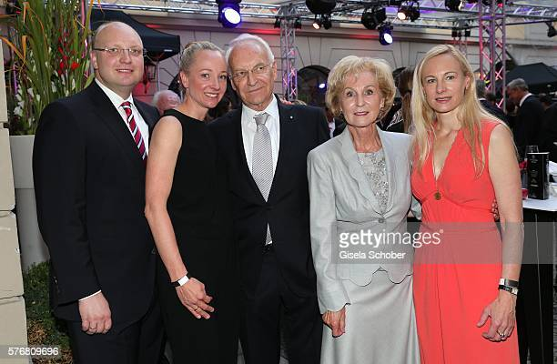 Family Stoiber, Dominic Stoiber, Veronica Sass, Edmund Stoiber and his wife Karin Stoiber, daughter Constanze Hausmann during the Mercedes-Benz...