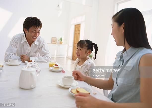 Family tea break