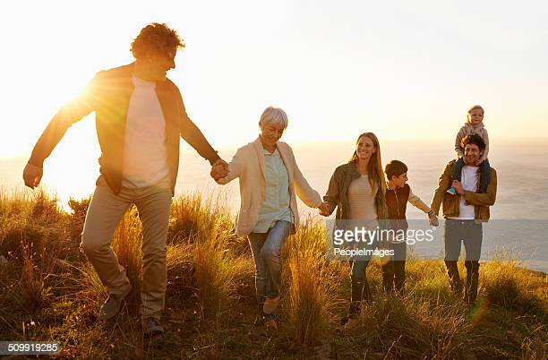 family teamwork - multigenerational family stock photos and pictures