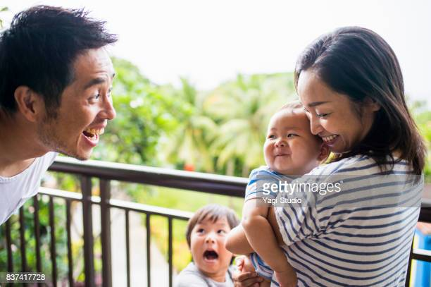 family time at hotel - guam stock pictures, royalty-free photos & images