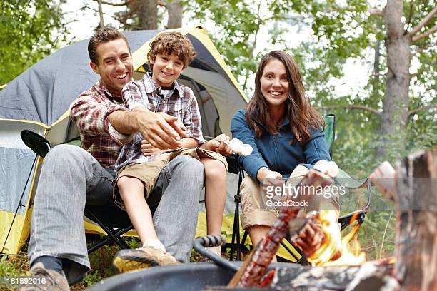 Family time at the campsite