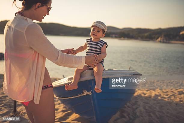 Moments en famille sur la plage