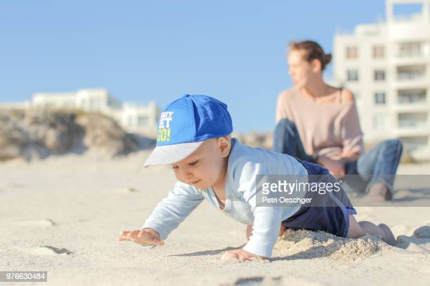 family time on the beach. - first occurrence stock pictures, royalty-free photos & images