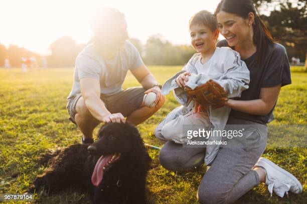 family time outdoors - baseball mom stock pictures, royalty-free photos & images