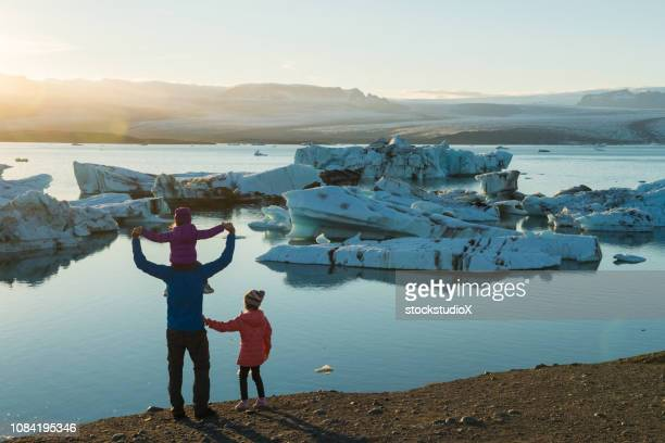 family traveling in iceland - iceland stock pictures, royalty-free photos & images