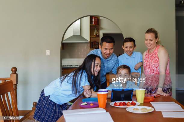 Family Using Tablet