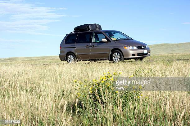 family vacation - mini van stock photos and pictures