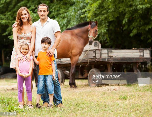 Family Visit a Farm.