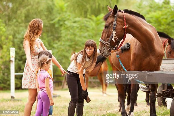 Family Visit Horse Riding School.