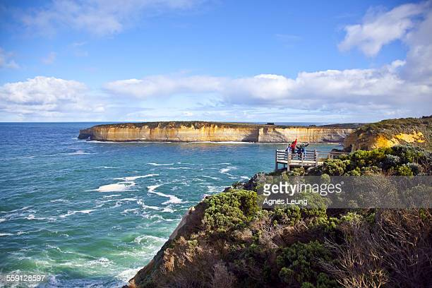 A family visiting Port Campbell National Park