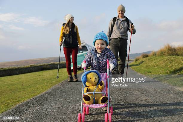 family walking in on moors - weekend activities stock pictures, royalty-free photos & images