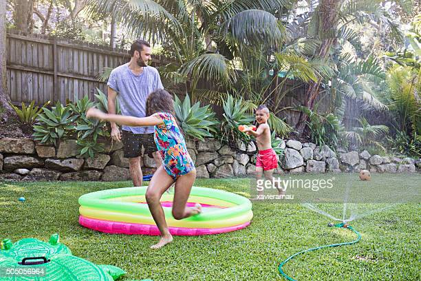 Family Water Fight