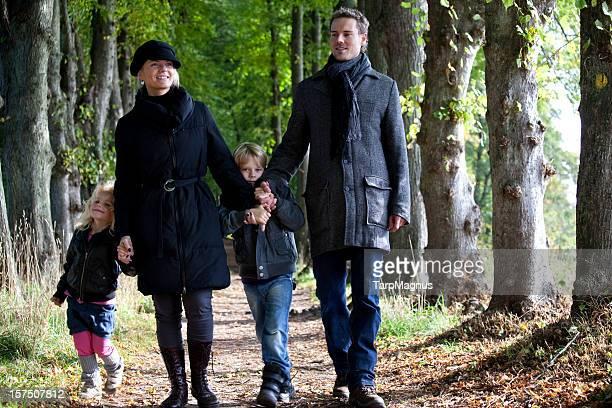 Family weekend walk