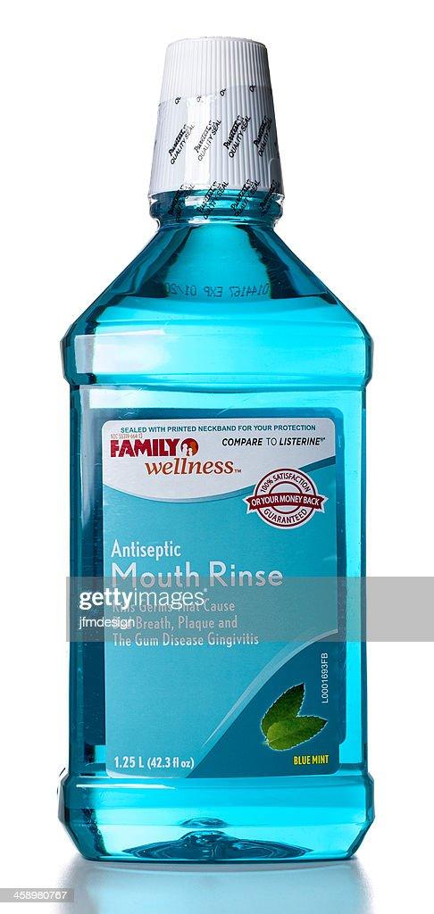 Family Wellness Antiseptic Mouth Rinse bottle : Stock Photo