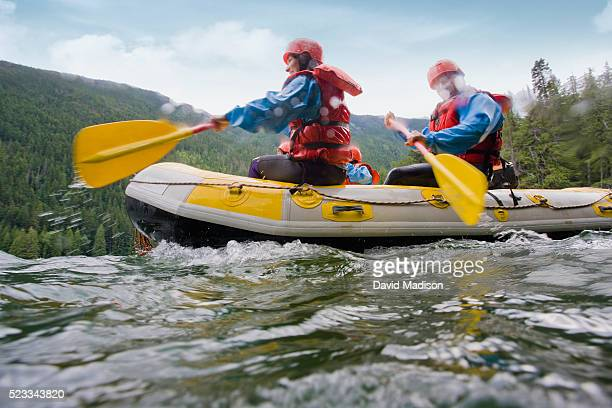 family whitewater rafting - whitewater rafting stock pictures, royalty-free photos & images