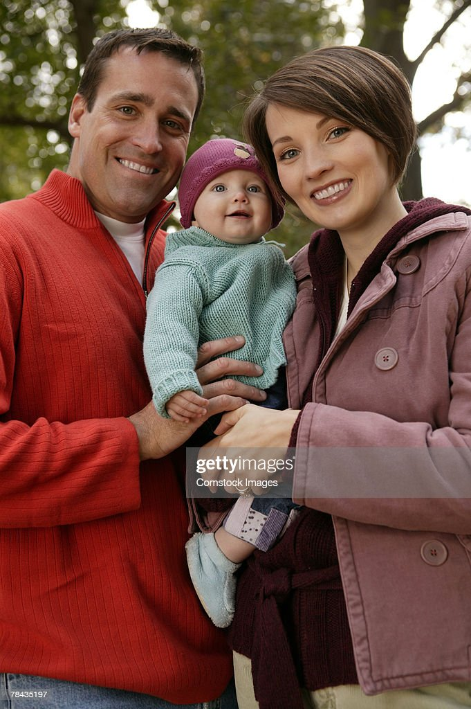 Family with baby : Stockfoto