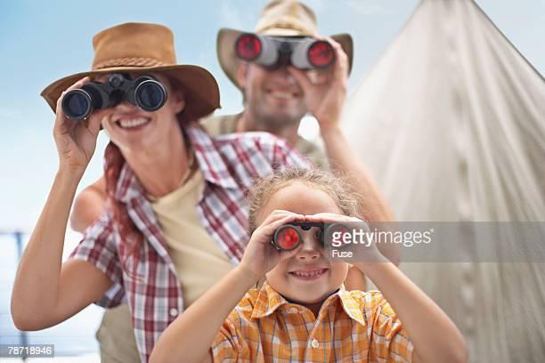 Family with Binoculars