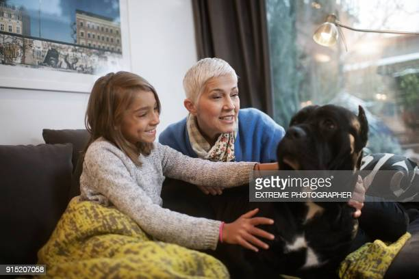 Family with Cane Corso