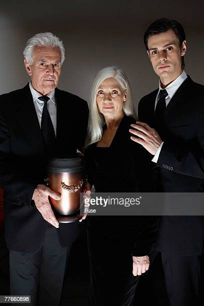 Family with Funeral Urn
