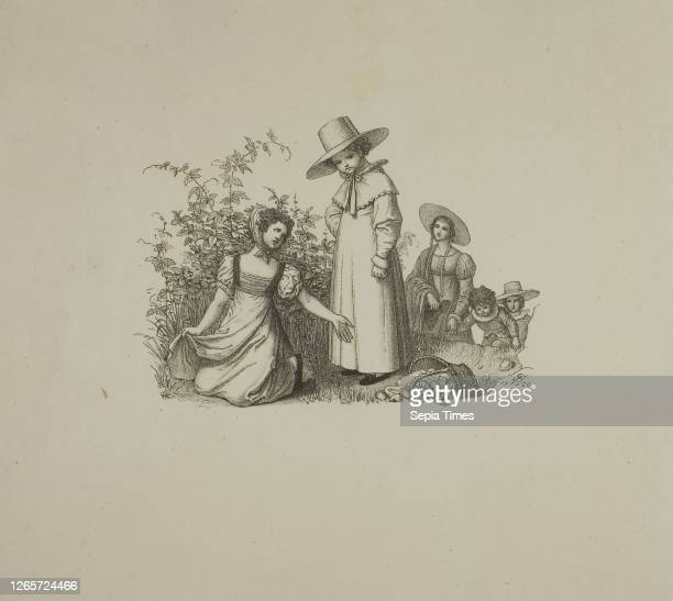 Family with Picnic Baskets Ludwig Ferdinand Schnorr von Carolsfeld, German, 1788-1853, Germany, Lithograph on cream wove paper, 82 x 110 mm , 185 x...