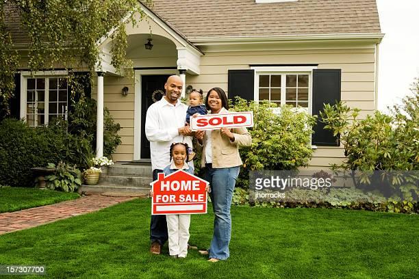 Famille avec vendu maison