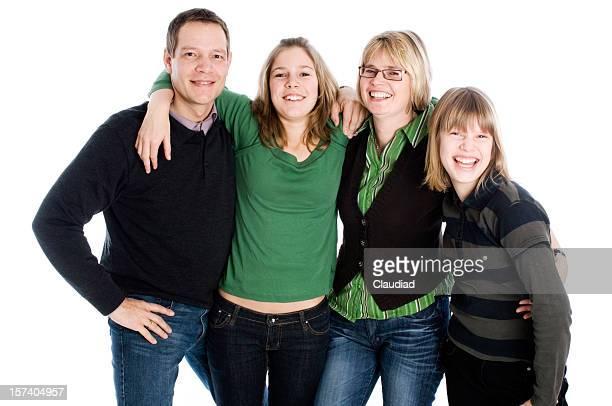 Famiglia con Ragazze adolescenti