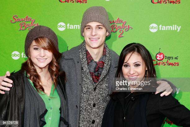 ABC Family's 'The Secret Life of the American Teenager' actors Shailene Woodley Ken Baumann and Francia Raisa attend the ABC Family's world record...