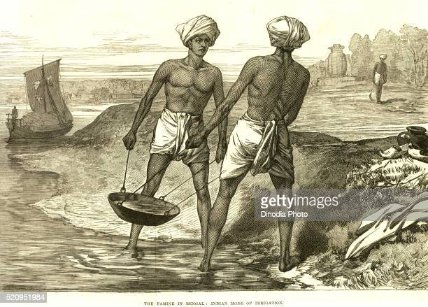 Famine in Bengal, Indian mode of irrigation, India