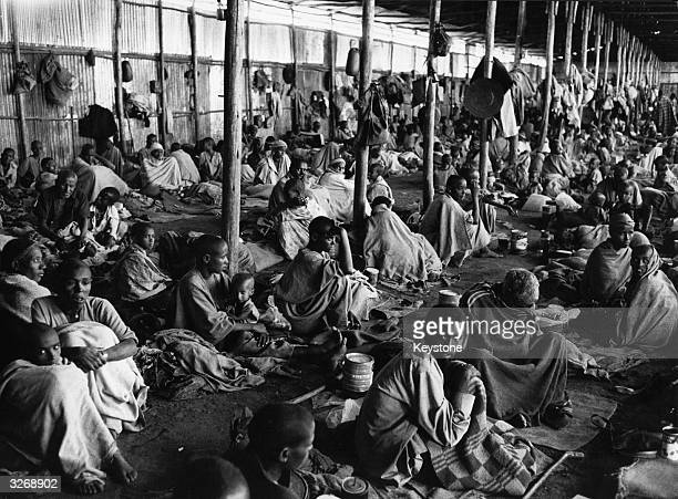 Famine refugees at a camp in Korem Drought civil war shortage of water food and fuel have resulted in the worst famine in Ethiopia since 1972 About...