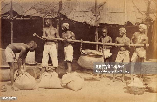Famine relief camp cook room in Madras India 1876 Madras Famine 18761878