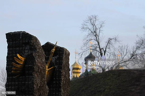 Famine victims memorial in Kyiv, November 28, 2015. On November 28-29 Ukraine honors the memory of the victims of the great famine Holodomor of 1932...