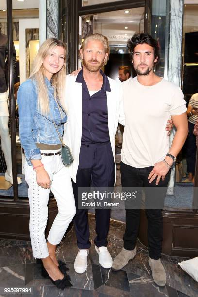 Famke Jansen Alistair Guy and Rick Kissack attends the La Perla x Alistair Guy 'The Ultimate Summer Wardrobe' party at La Perla Burlington Arcade on...
