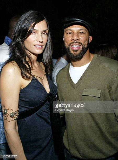 Famke Janssen and Common during 2006 MTV Video Music Awards Sapporo Maybach Present Common Famke Janssen's VMA Cookout 2006 at Sky Studios in New...
