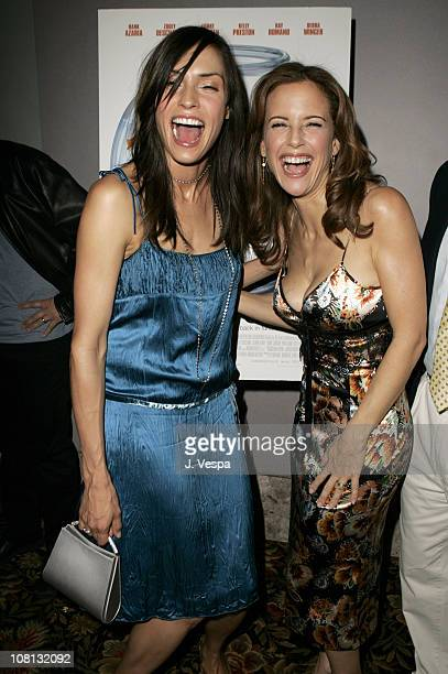 Famke Janssen and Kelly Preston during Eulogy Los Angeles Premiere Red Carpet at Mann Theatre in Los Angeles California United States